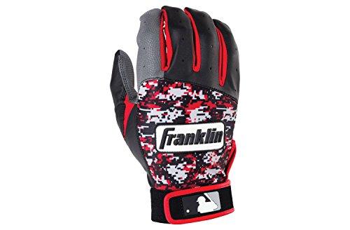 Franklin フランクリン バッティンググローブ DIGITEK 赤 黒 グレー サイズM [6804]