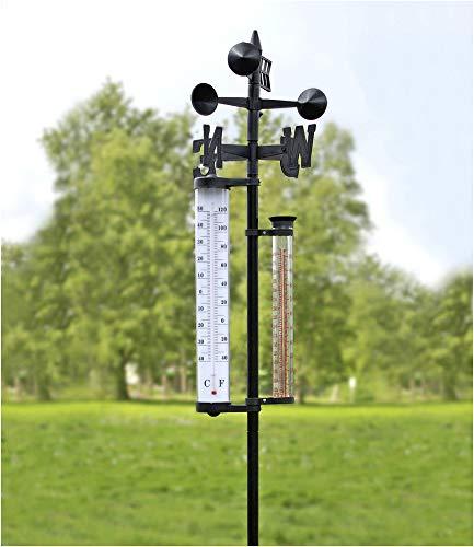 Wetterstation groß mit Regenmesser,1 Stück