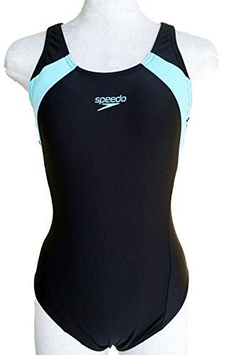 SPEEDO(スピード) レディース 競泳水着 セミオープンバック (競泳用/ワンピース) (O, BLACK/BLUE)