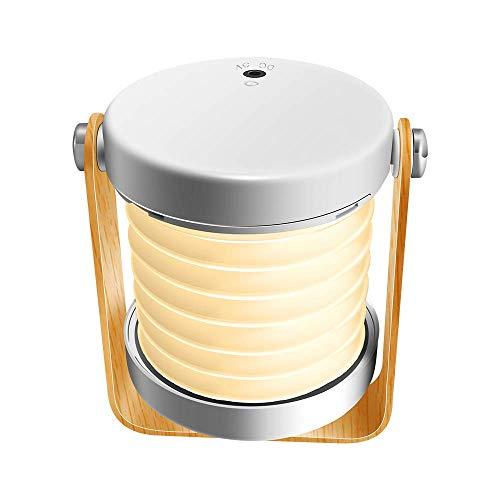 Delymc Lampe de Chevet Tactile sans Fil DN02 Lumiere d'Ambiance LED Rechargeable Rotation à 360 ° Lanterne Pliable avec 3 Modes de Luminosité Pour Activités Intérieures ou Extérieures
