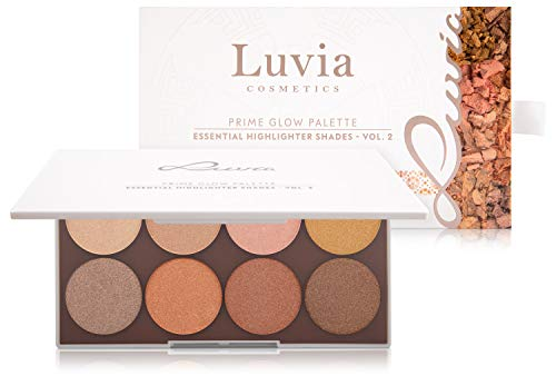 Highlighter Palette Luvia, Prime Glow 2, Besonders Fein Schimmernd, Frei Von Duftsoffen & Mikroplastik, Vegane Kosmetik, Geschenkidee Für Frauen