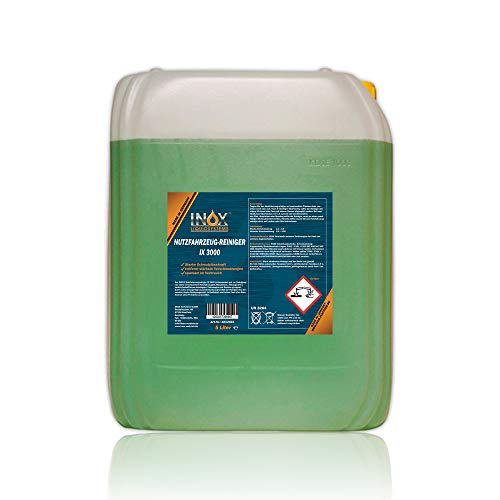 INOX® IX 3000 Limpiador de Vehículos Comerciales, 5L - Limpiador Activo para Lonas, Camiones y Coches