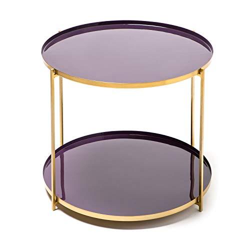 One Couture Table d'appoint, Métal, Plum/Violet, 50 x 50 x 40
