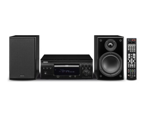Denon D-X1000 Blu-ray Kompaktanlage (DVD/CD-Player, Dolby Kopfhörer, USB 2.0, 130 Watt) schwarz