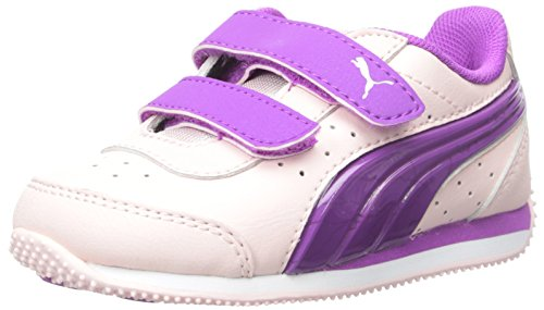 PUMA Speed Light Up V Kids Sneaker (Toddler/Little Kid/Big Kid) , Pink Dogwood/Purple, 3.5 M US Big...