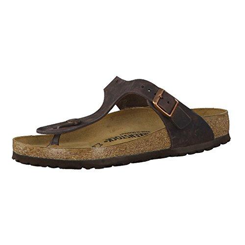 Birkenstock Schuhe Gizeh Nubukleder Normal Habana (743831) 38 Braun
