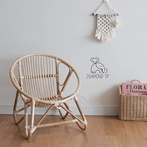 HJR Indonesian Rattan Chairs for Children INS Wind Really Wicker Chair Children's Room Decorative Hand-Woven Children Small Chair Chair