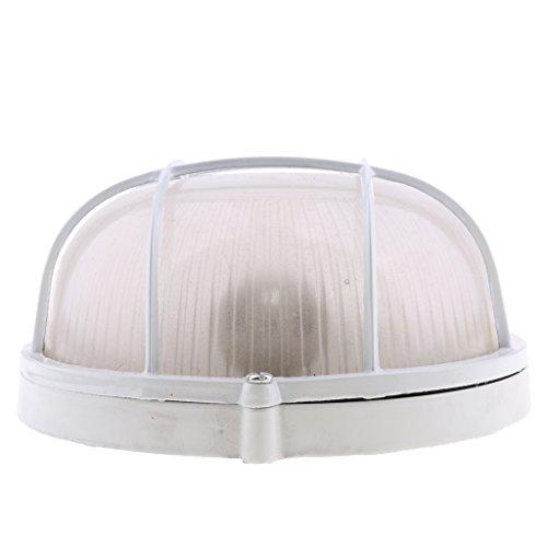 Nobranded Lámpara de Luz de Sauna Redonda U Ovalada Pantalla de Metal Blanco 45W Antideflagrante - Redondo