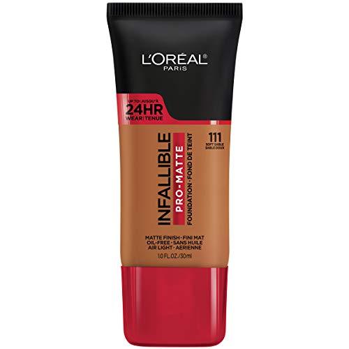 L'Oreal Paris Cosmetics Infallible Pro-Matte Foundation Makeup, Soft Sable, 1 Fluid Ounce by L'Oreal Paris