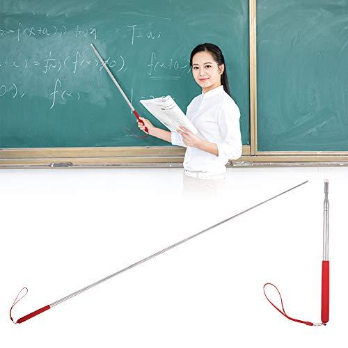 miuse Zeigestab Ausziehbar, 2 Farbe Teleskopzeigestab Versenkbare Klassenzimmer Whiteboard Tafel Zeiger Schwarz und Rot