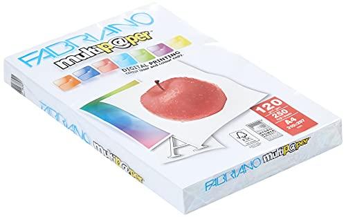 Fabriano - carta (120 g   m2, A4), Colore: Bianco