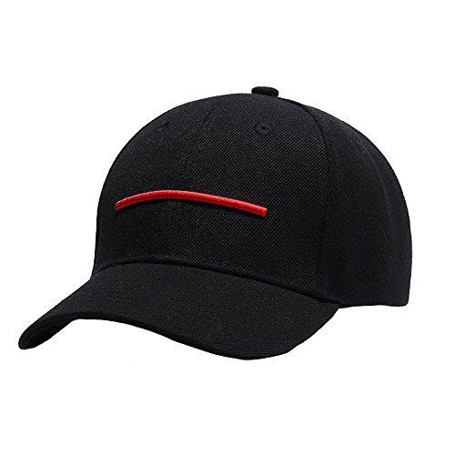 Berretto da Baseball Regolabile Uomini Ragazzi 3D Ricamo Linea Orizzontale Cappello di Hip Hop Berretto Snapback