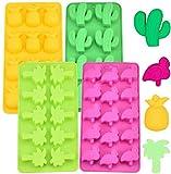 Süßigkeit Form Silikon Schokolade Formen Eiswürfel Schimmel Kaktus, Flamingo, Kokosnussbaum und...