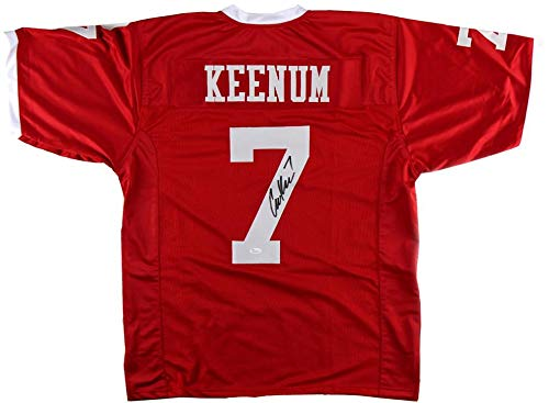 Case Keenum Signed Houston Red Custom Football Jersey - Autographed College Jerseys