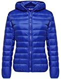Wantdo Women's Packable Winter Lightweight Warm Down Jacket Sapphire Blue Small