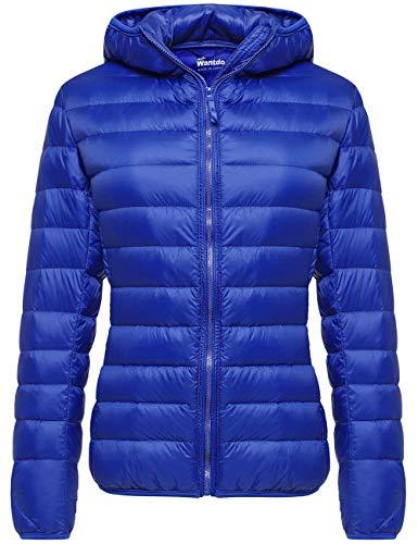 Wantdo Women's Packable Winter Lightweight Warm Down Jacket Sapphire Blue Small