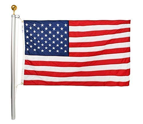Ezpole Flag Poles, Classic Flag Pole Kit, Aluminum Dual Flag Pole 21-Feet
