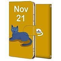 AQUOS Xx3 mini ケース 手帳型 サイドマグネット式 カード収納 スタンド機能 高級PUレザー 耐衝撃 AQUOS Xx3 mini カバー 誕生日11月21日-猫 かわいい アニメ アニマル 9734904
