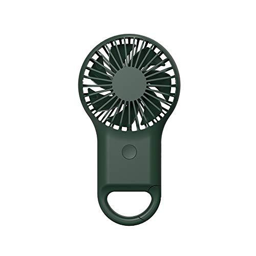 Pengyu- Ventilador de refrigeración, mini portátil de verano para exteriores con USB, recargable por USB, ventilador de enfriamiento, control de temperatura, plástico, Verde militar, talla única