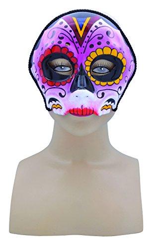 Bristol Novelty Novelty-EM747 EM747 Masque Style Jour des Morts, Multicolore, Unisex Adult, taille unique