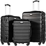<span class='highlight'><span class='highlight'>COOLIFE</span></span> Suitcase Black Black Set
