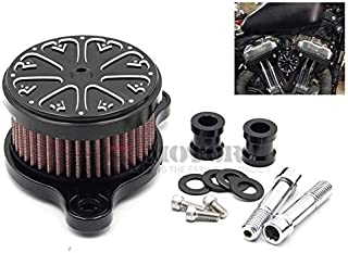 KeoKasu - For Harley XL883/1200/48 72 Motorcycle Air Filter Modified Scooter Air Cleaner Motorcycle Accessories Heart-shaped Air Filter
