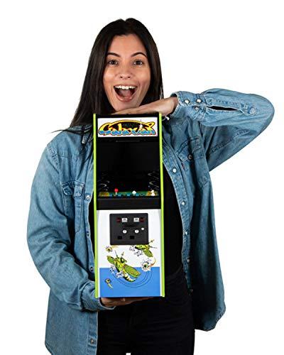 Quarter Arcades Offizielles Galaxian 1/4 Größe Mini Arcade Kabinett von Numskull - spielbare Replica Retro Arcade Spiel Maschine - Mikro Retro Konsole