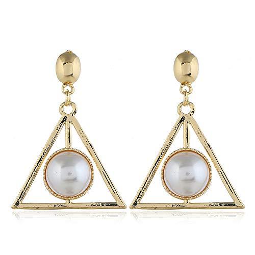 1 par de pendientes joyería Color dorado Bohemia pendientes geométricos para mujer regalo de moda punk