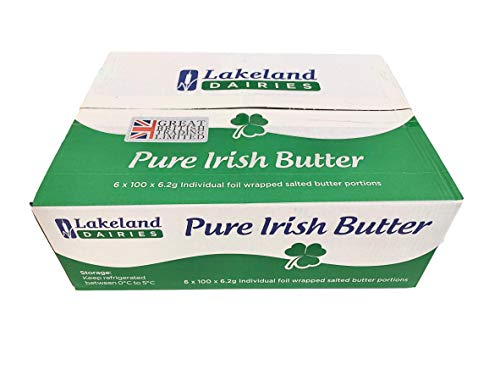 Lakeland Irish Butter 6 x 100 Individual Foil Wrapped Portions from GREAT BRITISH TRADING LIMITED