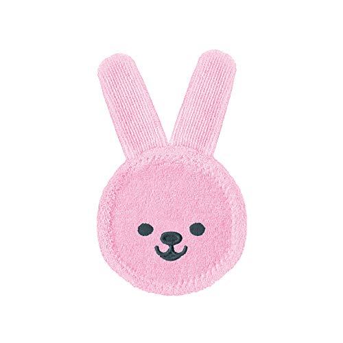 MAM Oral Care Rabbit für Baby's erste Mundhygiene, sanfte Zahnpflege mit weichem Mikrofaser-Material, Babys an die tägliche Mundreinigung gewöhnen, ab 0+ Monate, rosa