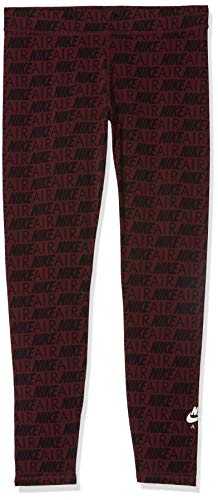 NIKE Damen Hose Gym Loose Obssessed, Black Heather/Raspberry Red, L, 548701-033