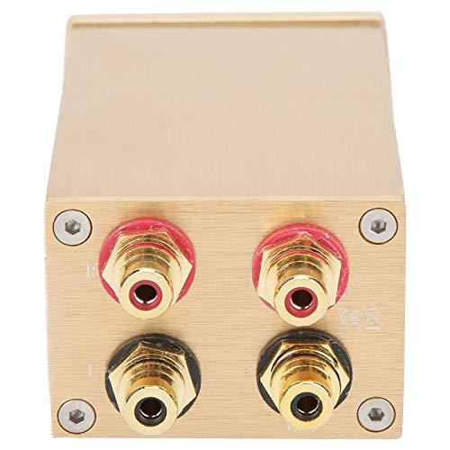 Agatige Preamplificador pasivo, Controlador de Volumen Partes de Audio y Video de TV de Alta precisión para monitores Activos Dorado