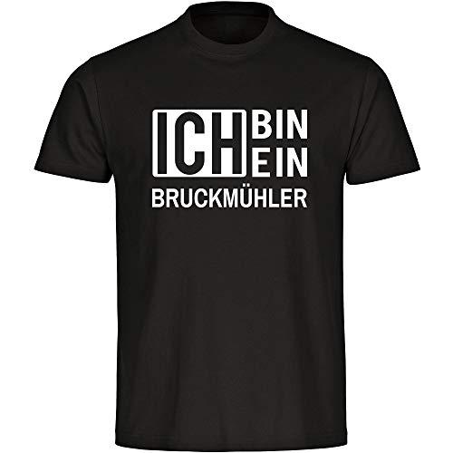T-Shirt Ich Bin EIN Bruckmühler schwarz Herren Gr. S bis 5XL, Größe:S