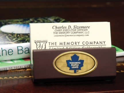 Memory Company NHL Toronto Maple Leafs Business Card Holder, One Size, Multicolor