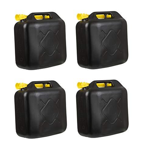 4x Kraftstoffkanister 20L Benzinkanister Diesel Reserve Kanister für Auto Roller