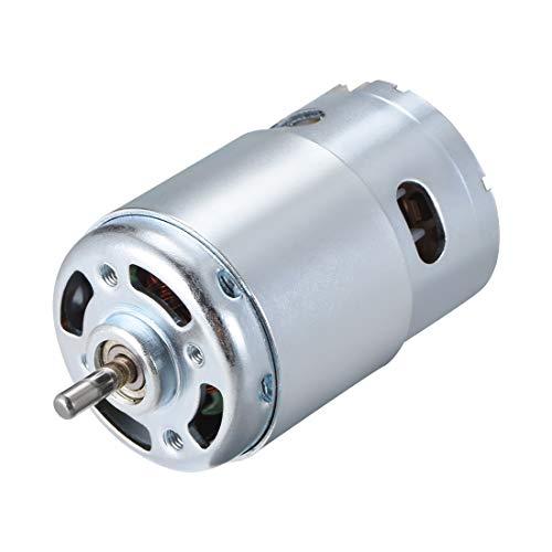 Sourcingmap Motor DC 24 V 10000 rpm 1 A magnético doble rodamiento de bolas eje redondo para RC Barco Juguetes Modelo DIY Hobby