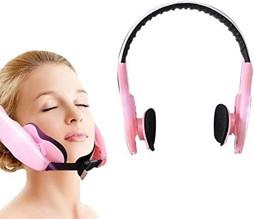 WLYX Lifting Visage Minceur Ceinture, Minceur visage double menton Cheek Sangle de Masque V Visage Shaper Sleeping Massage (Color : Pink)