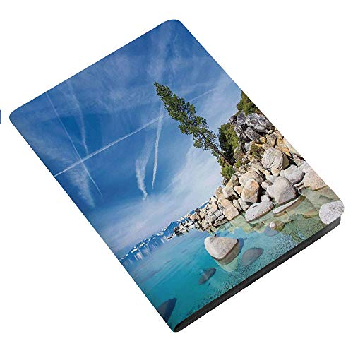 Lake iPad 2 3 4 Case (Old Model),Clear Dreamy Sky over Inland Creek Surrounded by Land Liquid Surface of Earth Print Ultra Slim Lightweight Stand Case with Frosted Back Smart Cover for Apple iPad 2/iP -  BESSIROPDE, IPAD 2TU_I517878_iPad 2 3 4