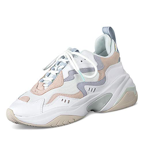 Tamaris Kowloon Sneaker Dames Blauw/Roze/Wit