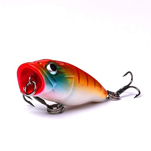 DYYW-Lure, 45mm 3.3g Poper Crankbaits Fishing Poppers for Fishing Pike Floating Wobblers for Bass Popper Topwater Lure Bass Trout (Color : CP 0093025)