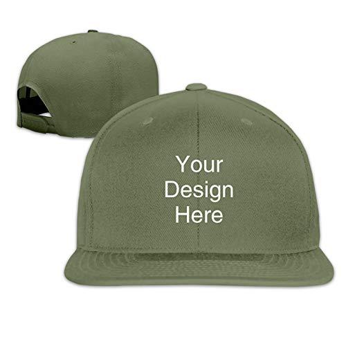 AOTON Gorra de béisbol personalizada de pico plano Snapbacks Custom Flat Bill Caps de verano ajustable Hip-hop Cap Dance Sombreros para hombres y mujeres Sombreros de papá