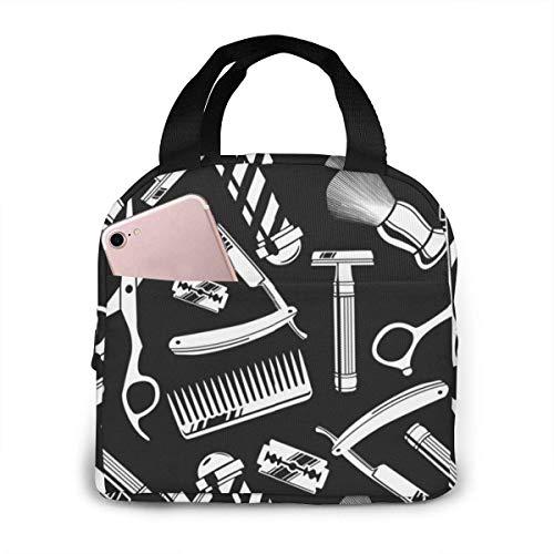 Barbershop - Bolsa de almuerzo reutilizable con diseño de imagen