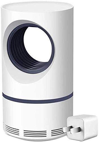 Elektrische muggenvernietiger, elektronisch muggenvallicht, 5 W, USB smart optisch gestuurde insectenwerende lampenlicht, stil, efficiënte muggenbeschermlamp voor de slaapkamer binnen en buiten baby (wit)