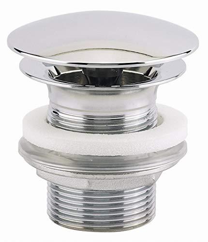 bonde allure - champignon - diamètre 63 - laiton chromé - hauteur 60 mm - sans lanterne - sortie filetée 33x42 - valentin 122500