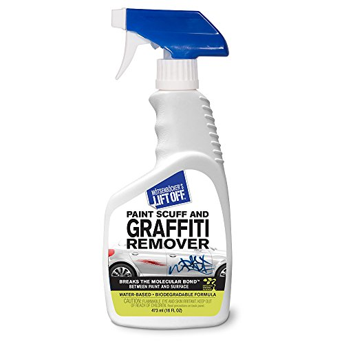 Motsenbocker's Lift Off 45406 16-Ounce Paint Scuff and Graffiti Remover Spray Easily Removes Paint Scuffs, Spray Paint, Acrylic from Multiple Surface Types Vehicles, Brick, Boats, Concrete and More