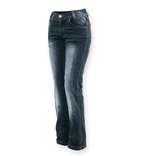 Bores Live Jeans Damen Motorradhose, Blau, Größe 32