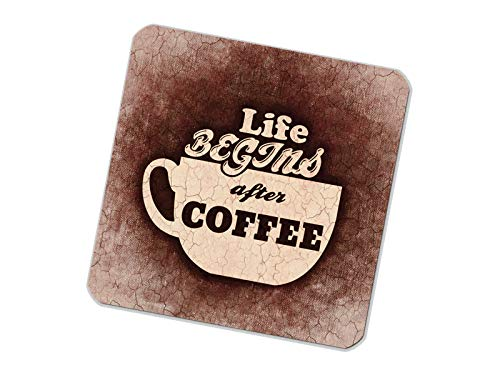 Untersetzer bedruckt 6er Set Coffee