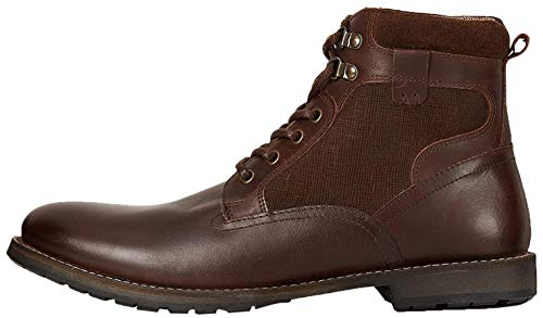 Marca Amazon - find. Finlay Botas Clasicas, Marrón Waxy Dark Brown, 42 EU