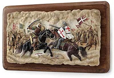 XoticBrands Battle of Hattin Wooden Wall Plaque Sculpture