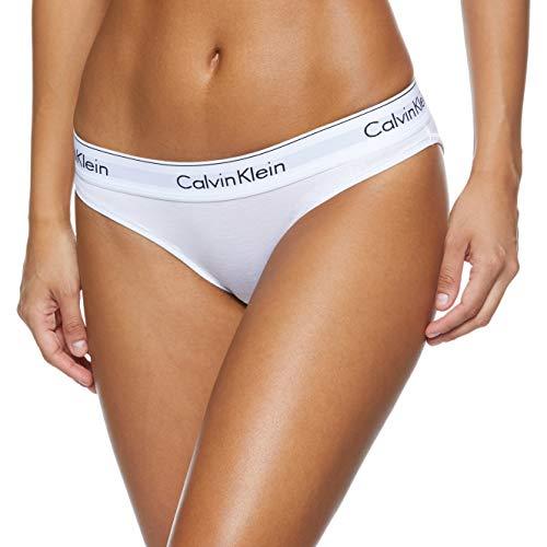 Calvin Klein Underwear Damen Bikini Slip - Modern Cotton, Weiß (White 100), M